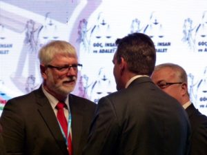 Judge MacKenzie at the Migration, Human and Justice conference in Istanbul, Turkey